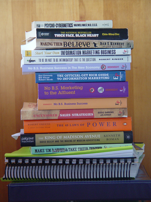 Books for theMarketing with Dan Kennedy Workshop