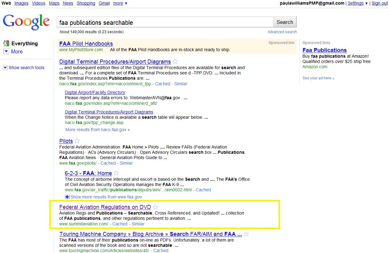 FAA Publications Searchable