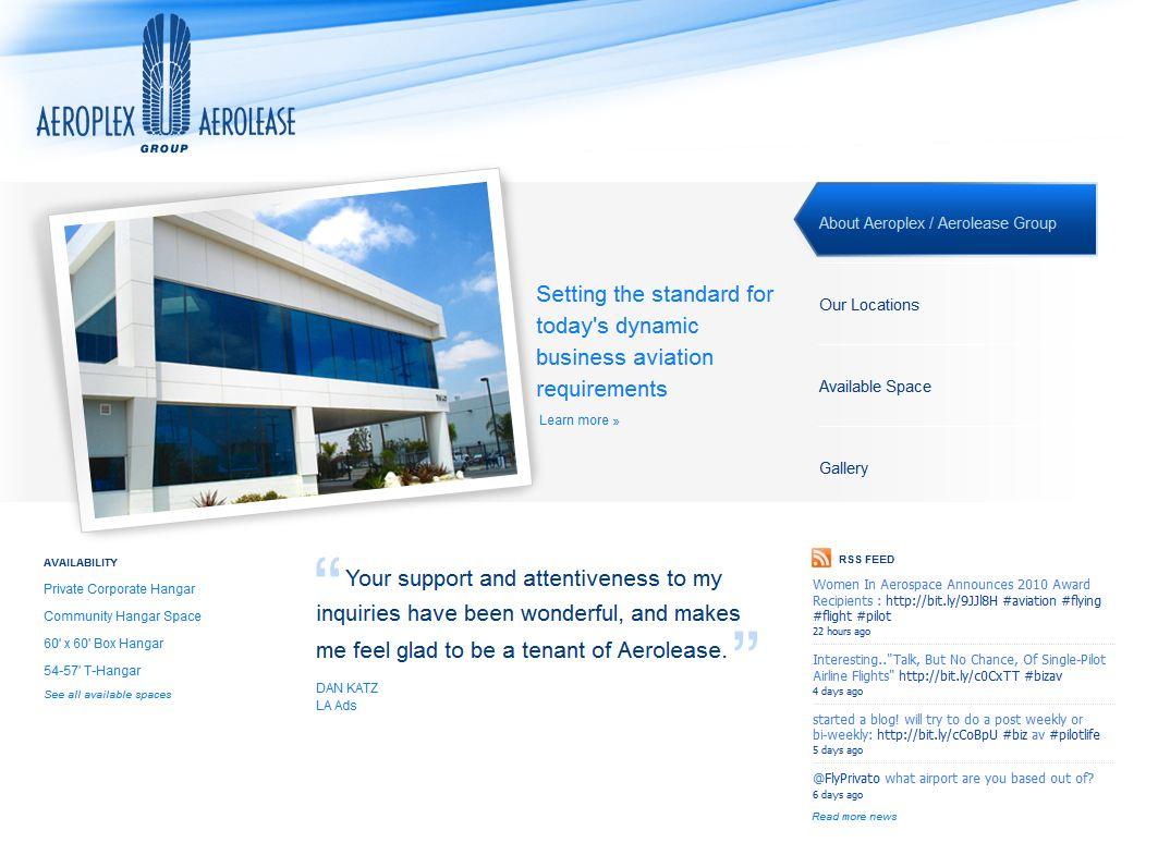 Aeroplex Web Site