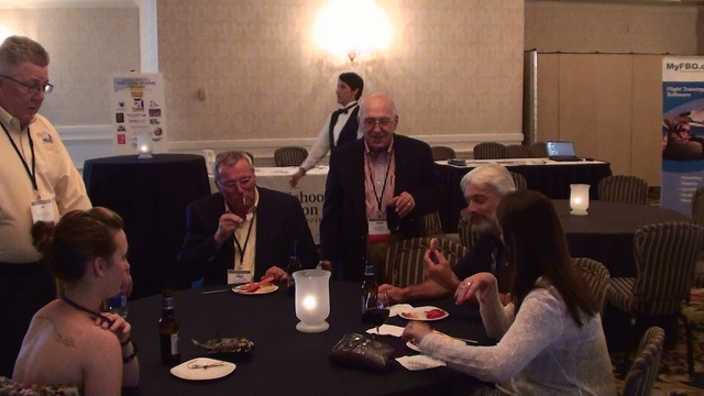 Events like this social mixer at the FSANA (Flight School Association of North America) Convention are great opportunities to start mutually profitable relationships.