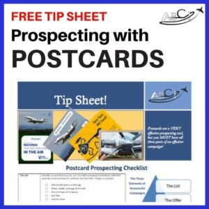 Aviation Postcard Tip Sheet