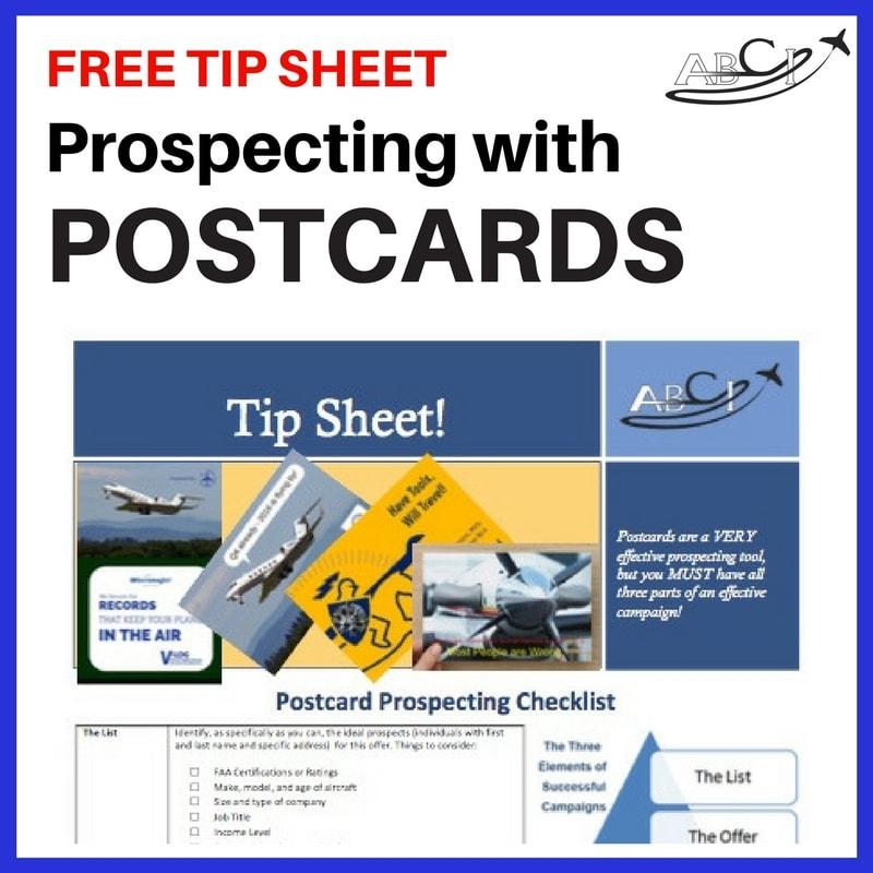 Aviation Postcard Tip Sheet