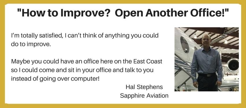 ABCI Aviation Marketing Testimonial - Hal Stephens
