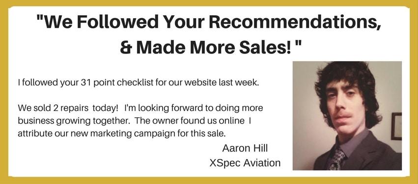 ABCI Aviation Marketing Testimonial - Aaron Hill