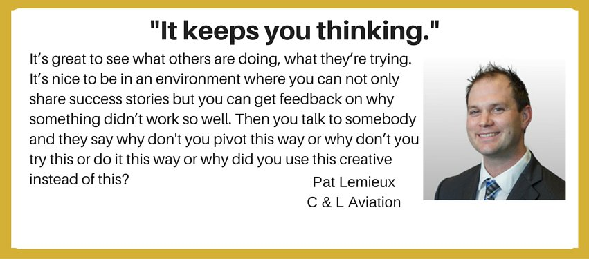 international aviation marketing testimonial - keeps you thinking
