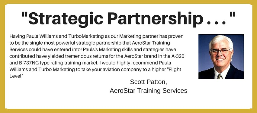 international aviation marketing testimonial - strategic partnership