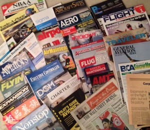 advertising in aviation - magazines
