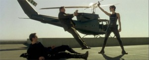 """Within minutes of this scene, Trinity will be piloting this helicopter perfectly with no experience - after magically """"downloading"""" the skill from a cell phone.  We haven't perfected that technology, for pilots or for sales and marketing professionals!"""