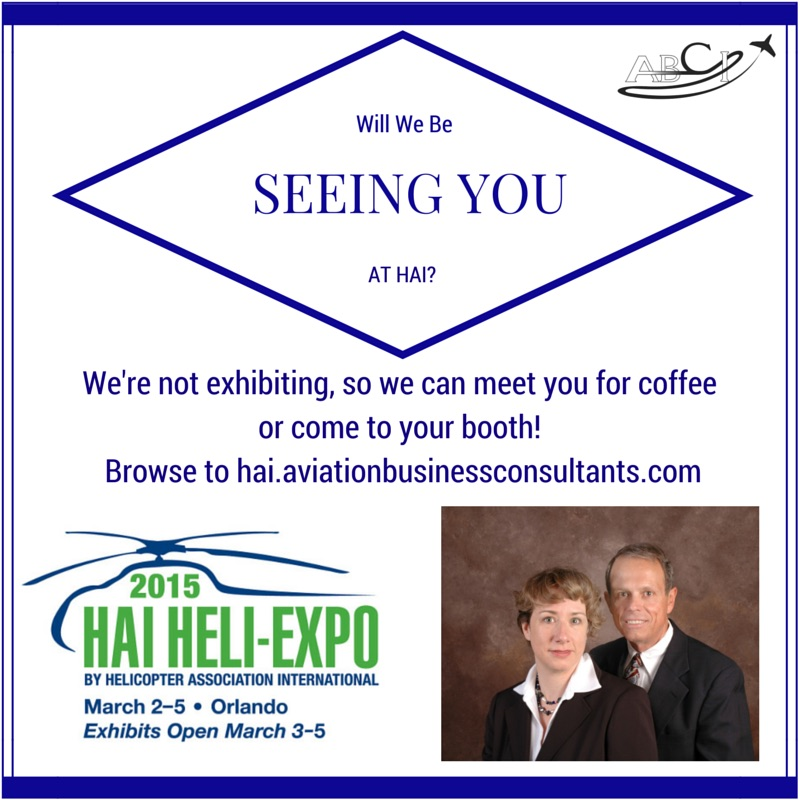 Will we see you at HAI Heli-expo?