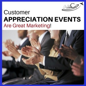 Aviation Marketing - customer appreciation events
