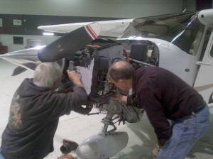 John & Mike replacing the starter on 08C - the importance of aviation video