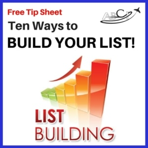 Marketing for Aviation - Ten Ways to Build Your List