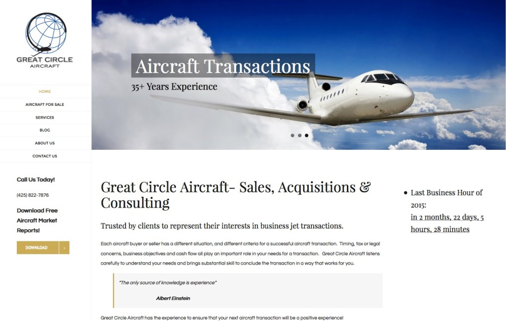 Great Circle Aircraft - New Site