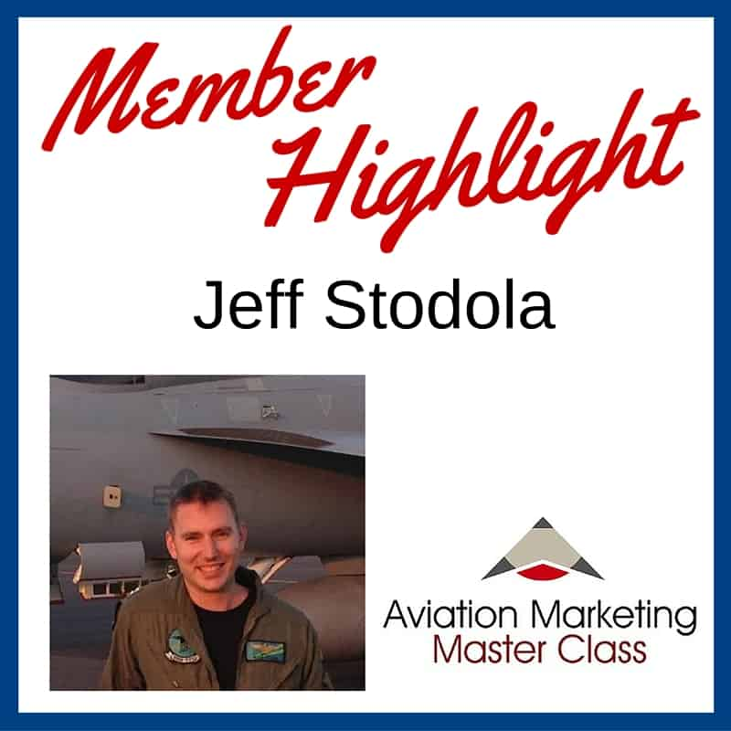 Jeff Stodola Aviation Copywriter - Member Highlight