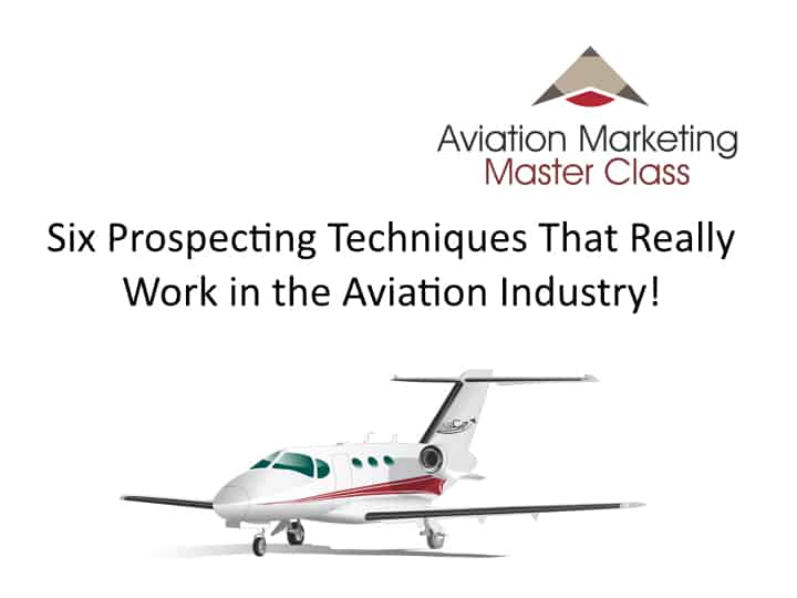 Prospecting in the Aviation Industry - Webinar