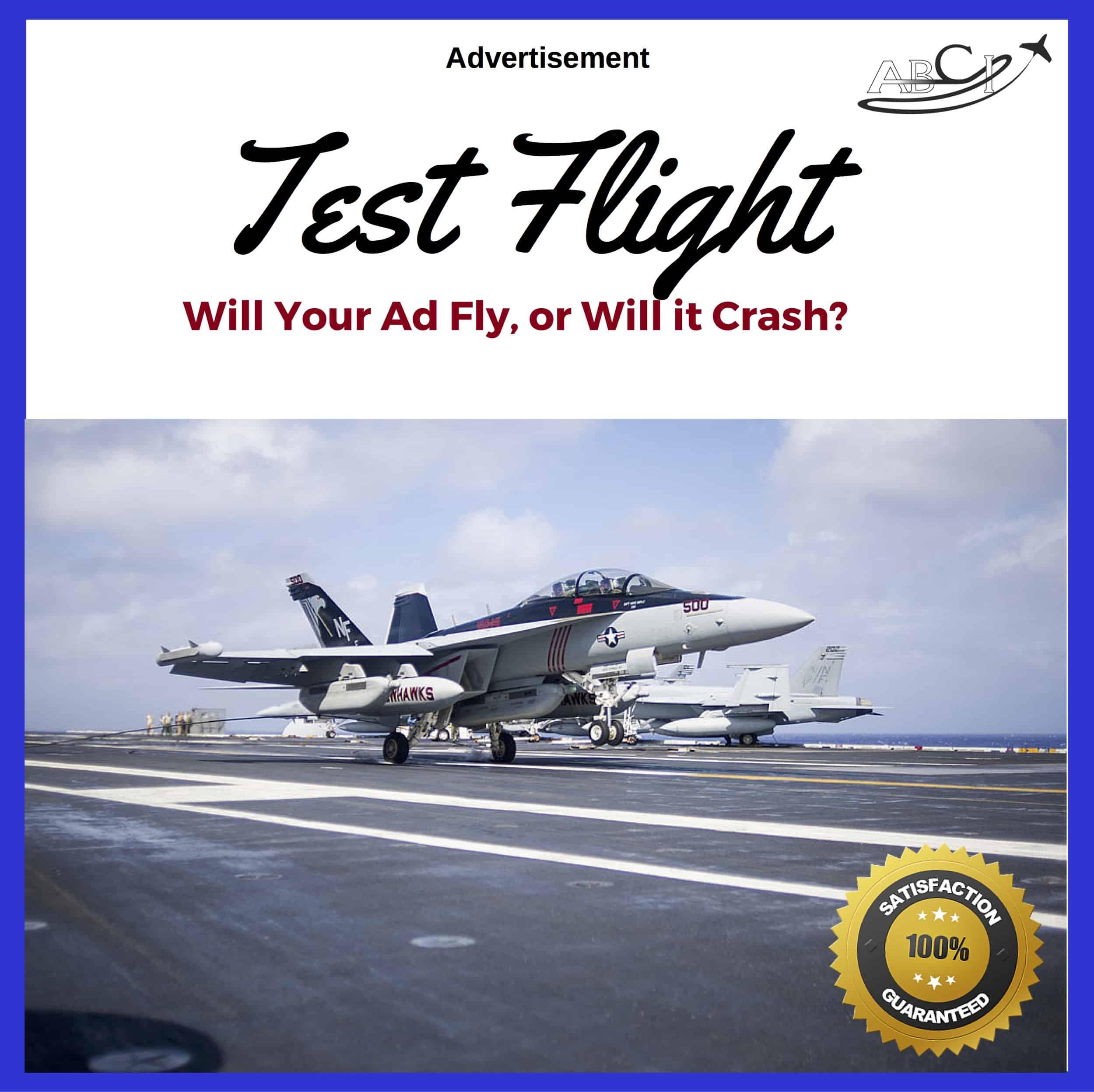 Advertising Test Flight