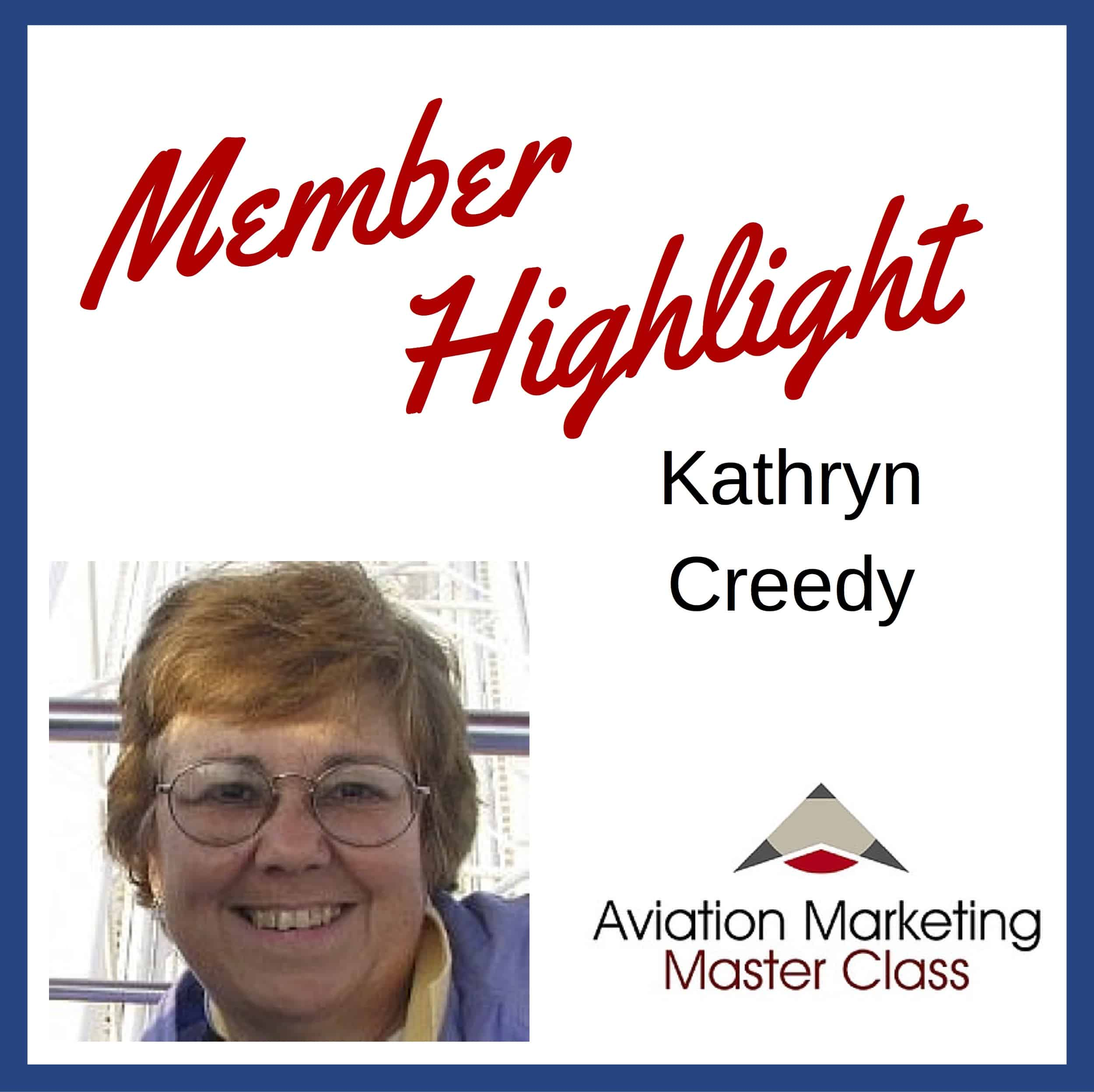 Aviation copywriter Kathryn Creedy