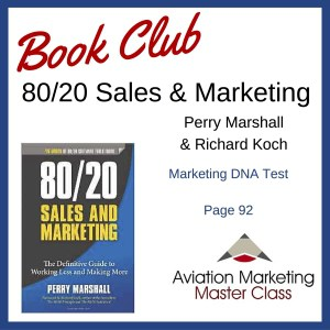 80/20 sales and marketing aviation marketing book club - Marketing DNA Test