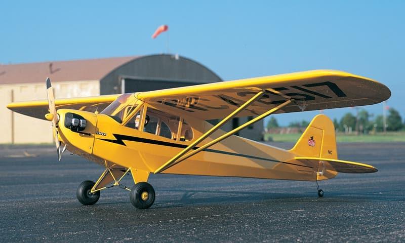 Ad test flight - Piper Cub