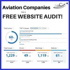 Aviation Website Audit