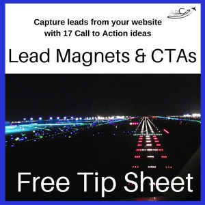 Ideal for b2b aviation marketing - lead magnets & Ctas.