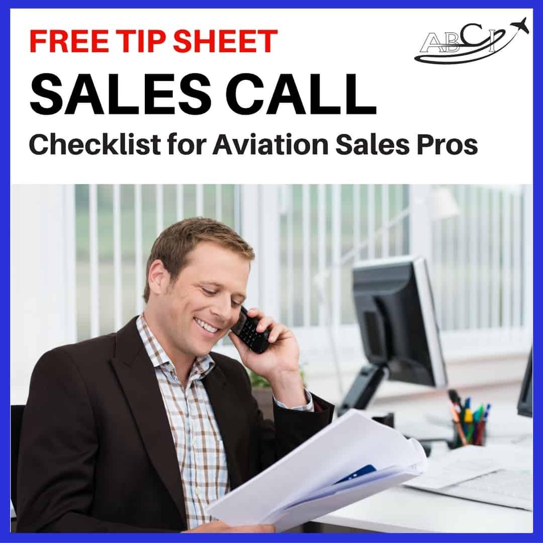 Sales call checklist big square