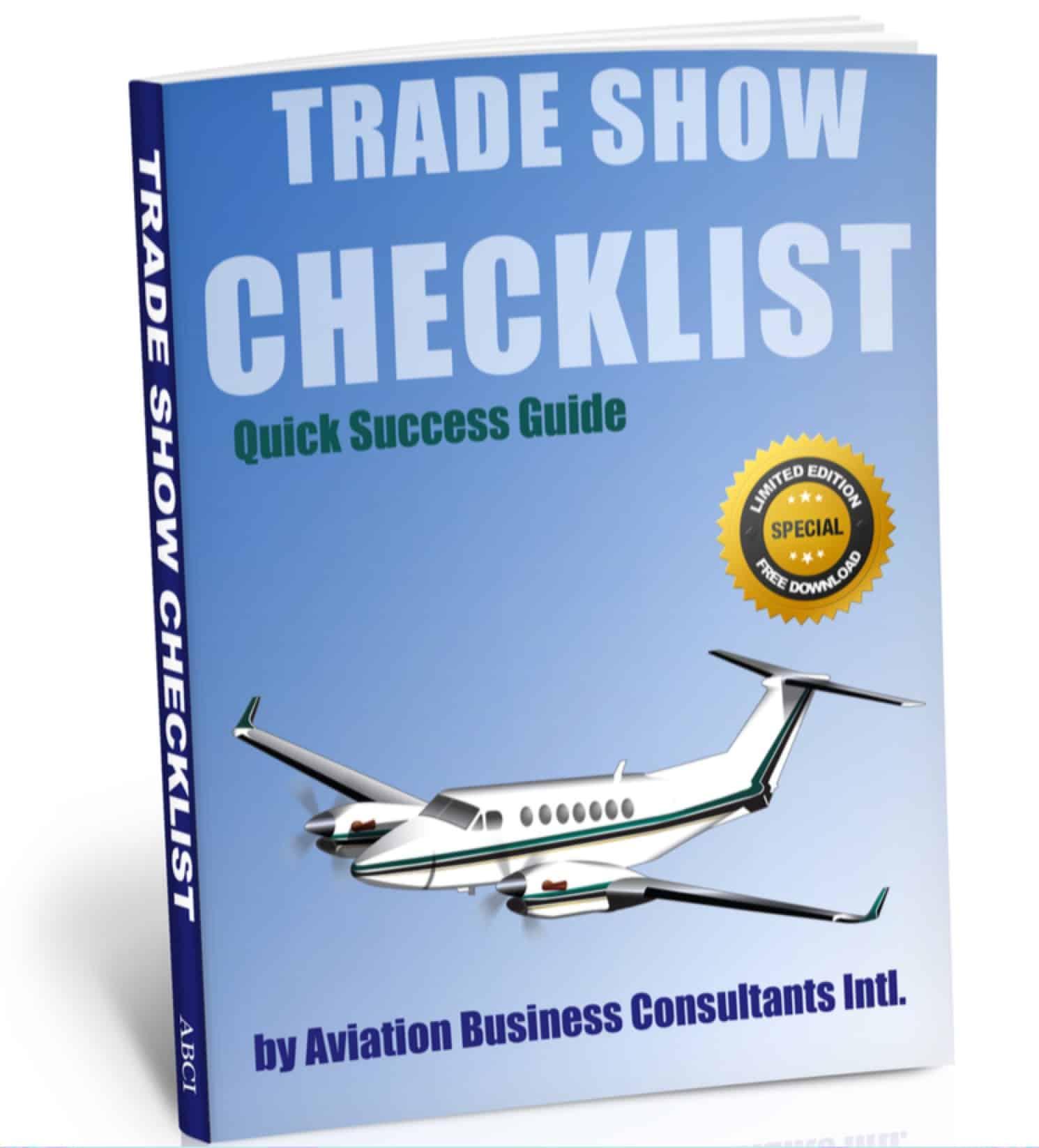 Aviation Trade Show Marketing Checklist Cover