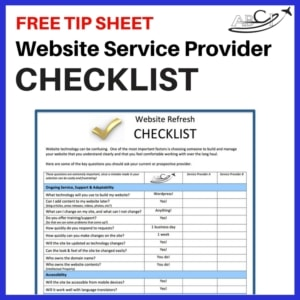 Aviation Website Service Provider Checklist