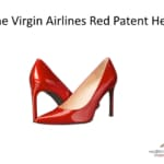 Virgin airlines red patent heel