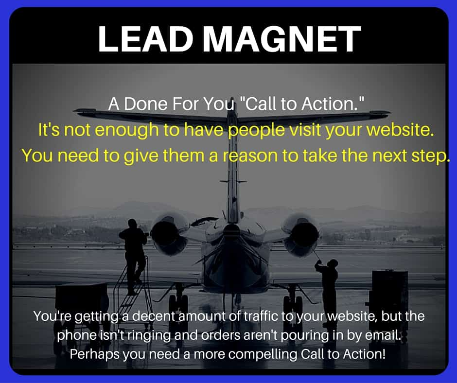 Aviation marketing lead magnet product