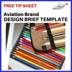Square Ad - Design Brief Template - pencils