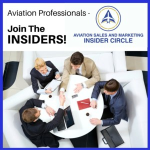 Aviation sales and marketing insider circle