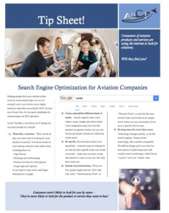 SEO Tip Sheet Screenshot