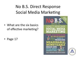 Book Club Discussion - No BS Social Media Marketing - Six basics of effective marketing