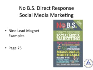 Book Club Discussion - No BS Social Media Marketing - Nine lead magnet examples