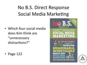 Book Club Discussion - No BS Social Media Marketing - Unnecessary Distractions
