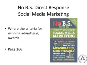 Book Club Discussion - No BS Social Media Marketing - advertising awards