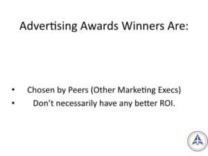 Book Club Discussion - No BS Social Media Marketing - Who wins advertising awards?