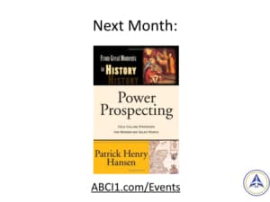 Book Club Discussion - Next Month - Power Prospecting