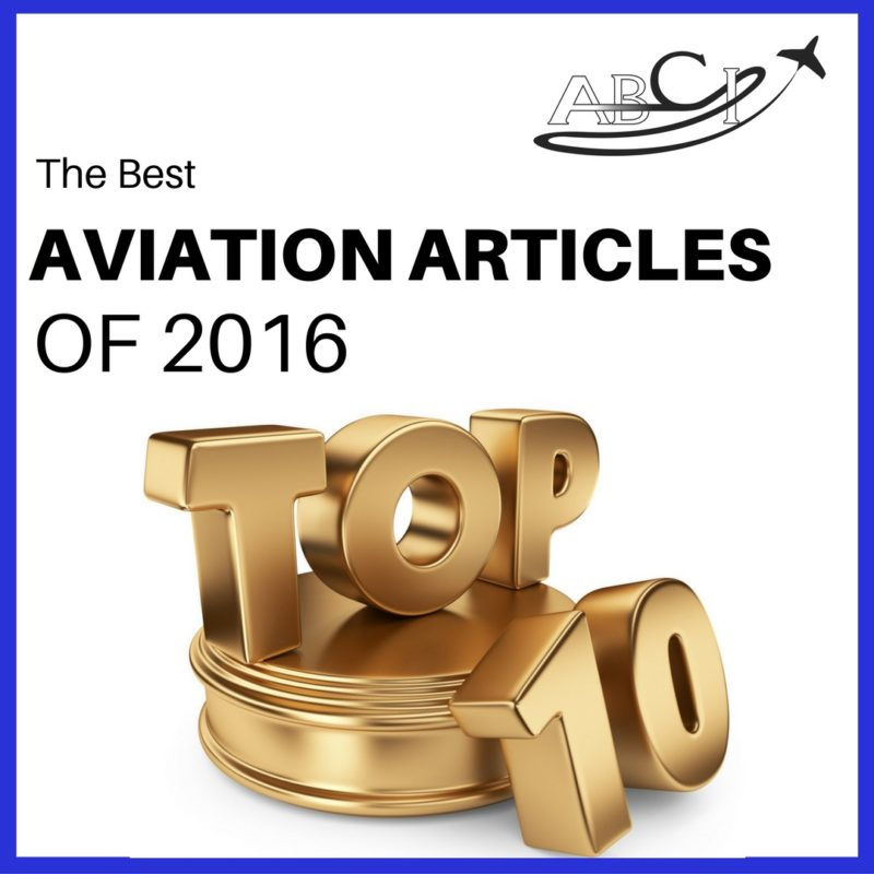 Top Ten Aviation Marketing Articles of 2016