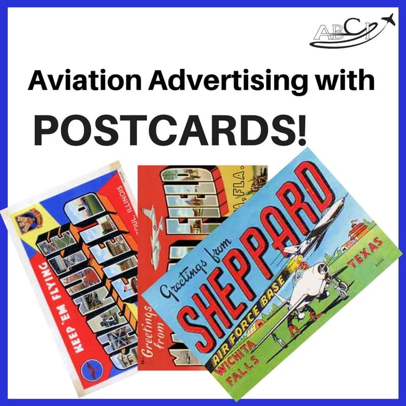 Aviation marketing Postcards