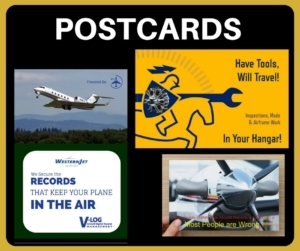 Aviation Marketing Prospecting Postcards