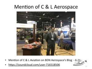 Aviation Marketing - Mention of C & L Aerospace