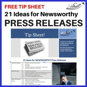 21 Ideas for Newsworthy Aviation Press Releases