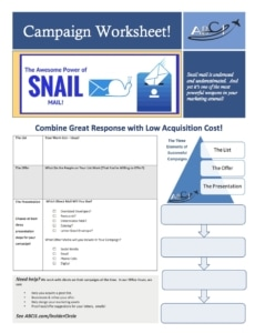 Direct Mail Campaign Worksheet