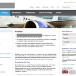 Aviation Website Design.