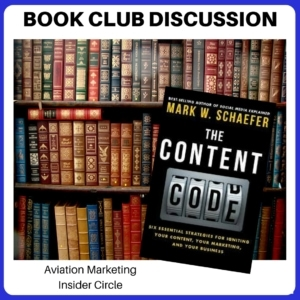 Book Club Discussion - The Content Code - aviation content marketing