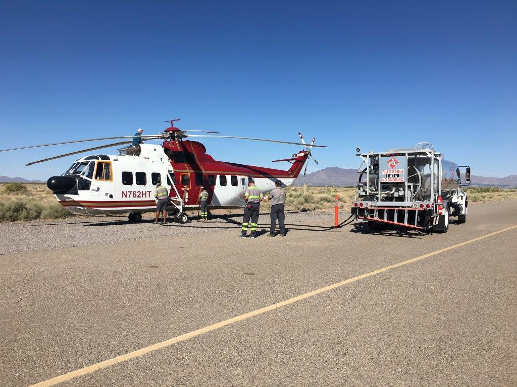 "Sikorsky 61 ""Sea King"" at the Doña Ana County Airport"