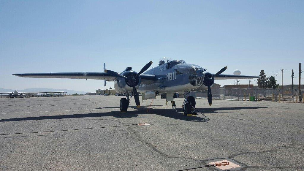 B25 Mitchell Bomber at the Dona Ana County Airport