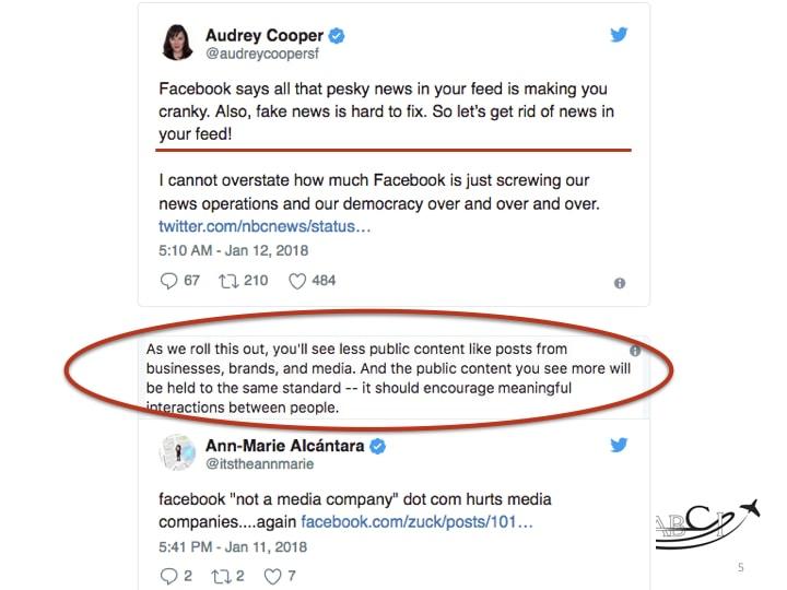 facebook marketing - audrey cooper's tweet